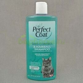 8 in 1 Perfect Coat Shed Control & Hairball Shampoo for Cats Шампунь для кошек укрепляющий