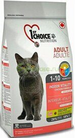 1ST CHOICE Adult Cat Vitality Indor Chicken - Сухой корм для домашних Кошек с КУРИЦЕЙ