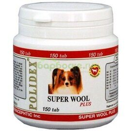 Polidex Super Wool plus Добавка для улучшения состояния кожи и шерсти для собак