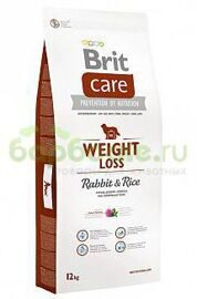 BRIT Care Weight Loss Rabbit & Rice Сухой корм для собак склонных к полноте КРОЛИК и РИС