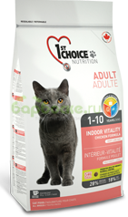 1ST CHOICE Adult Cat Vitality Indor Chicken - Сухой корм для домашних Кошек с КУРИЦЕЙ 907 г