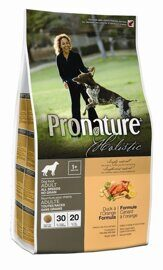 PRONATURE Holistic Adult All Breeds Duck & Orange - Сухой корм для Собак всех пород Утка с Апельсином